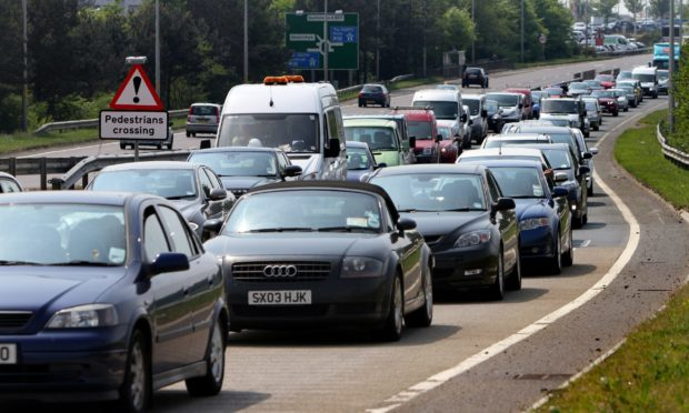 Motorists in Fife are being warned to expect delays over the next three weeks (library image)