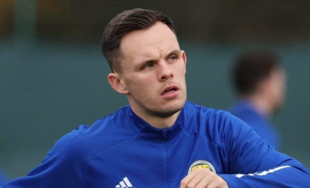Lawrence Shankland at a previous Scotland training camp.