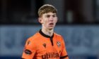 DUNDEE, SCOTLAND - JANUARY 27: Kai Fotheringham in action for Dundee United during a Scottish Premiership match between Dundee United and St Mirren at Tannadice on January 27, 2021, in Dundee, Scotland. (Photo by Ross Parker / SNS Group)