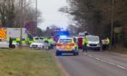 The crash happened just outside Arbroath.