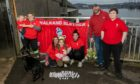 A small group did relay walks of the Tay Bridge in honour of people who took their own lives.
