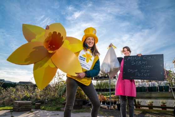 Jessie's Kitchen staff member Emily Stewart and Marie Curie patron Petra McMillan.