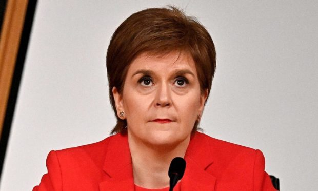 First Minister Nicola Sturgeon giving evidence to the Committee on the Scottish Government Handling of Harassment Complaints, at Holyrood.