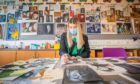 Head Girl Melissa Phillips works on her art portfolio following the phased return to school.