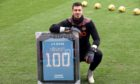 Goalkeeper Benjamin Siegrist has now made over 100 appearances for Dundee United.