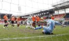 Dundee United No 1 Benjamin Siegrist made a number of good stops against Celtic on Sunday.