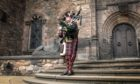 Competition judge and Senior Pipe Major for the British Army, WO1 Peter Macgregor.