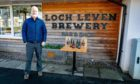 Thomas Moffat at Loch Leven Brewery with the new limited edition beer for sale to aid NatureScot
