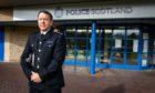 Garry McEwan outside Fife Police HQ in Glenrothes.