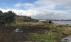 The site at Seafield where eight luxury houses are planned.