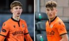 Dundee United kids Kai Fotheringham and Lewis Neilson.