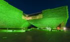 The V&A goes green for St Patrick's Day.