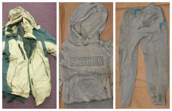 Police have released images of clothing in bid to establish the identity of the young man.