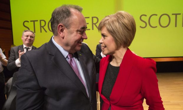 Alex Salmond and Nicola Sturgeon at the SNP party conference in Perth in November 2014.