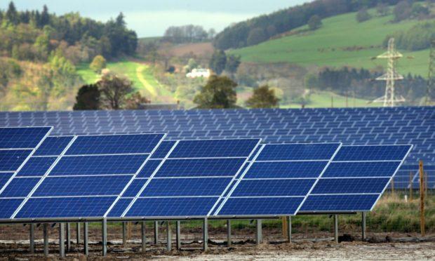 A solar farm in Errol, Perthshire.