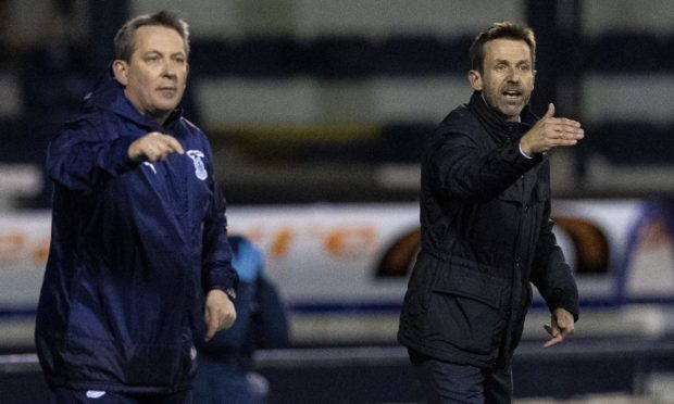 Inverness' interim management team - Billy Dodds and Neil McCann.