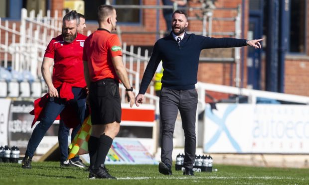 Dundee boss James McPake takes his side to face Ayr United tonight.