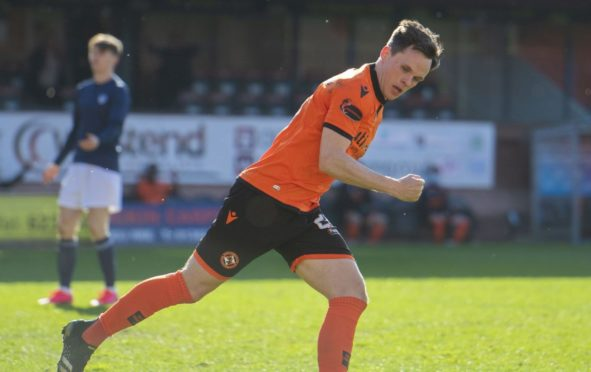 Lawrence Shankland after his goal.