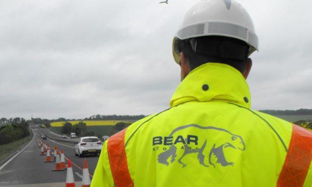 A85 resurfacing work Perthshire