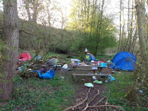 Some of the rubbish left abandoned at Barry Mill over the weekend.