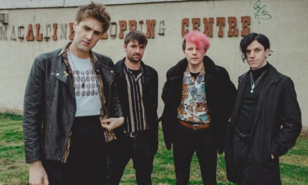 Dundee band Echo Machine Gary Moore, Ben Doherty, Lewis Bage and Michael McFarlane