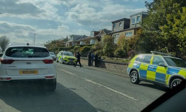 Police at Halbeath Road.