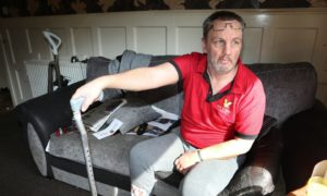 Craig Duddrige at his home in Lochee.