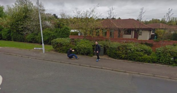 Two men spotted fighting by a Google Street view camera