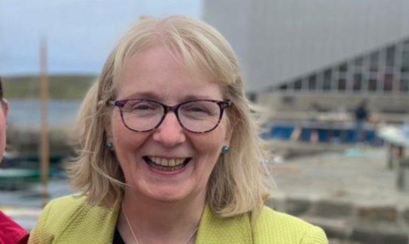 Shetland MSP candidate Beatrice Wishart (Right)