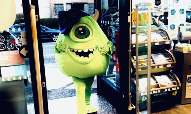 'Mike Wazowski' at The Co-op, Rannoch Road.