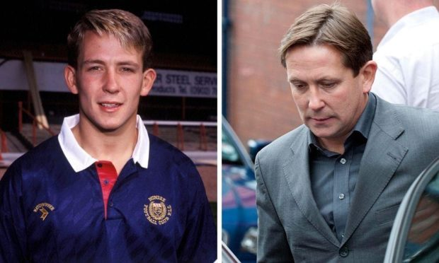 Billy Dodds as a Dundee youngster in 1989 and after being made redundant as assistant manager in 2010.