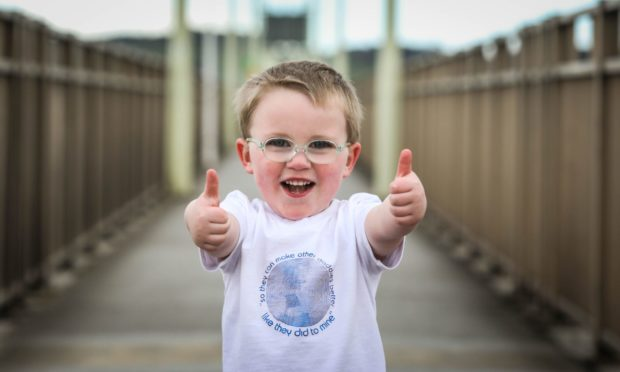 toddler fundraises for MacMillan