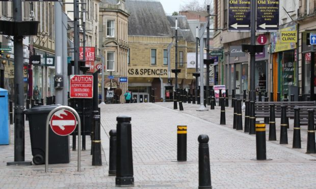 Shops have shut across the country like here in Inverness High Street.
