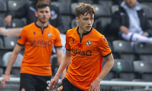Young Dundee United midfielder Archie Meekison.