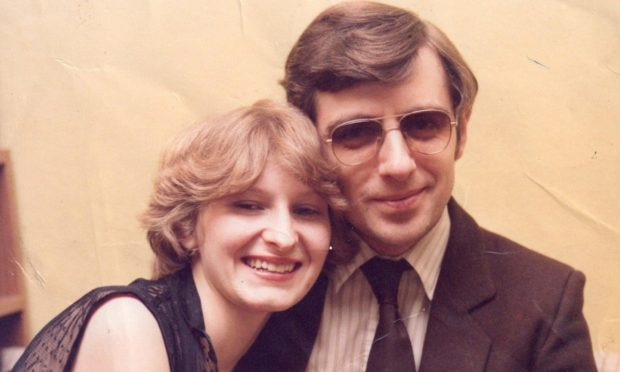 Carol and Harry Jarvis shortly after their marriage in 1982