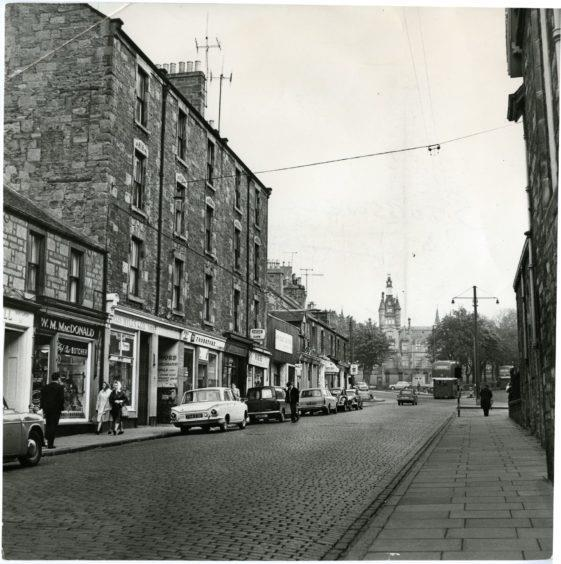 Dura Street in 1967, with Morgan Academy in the background.