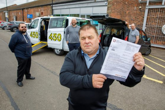 Tay Taxis director Charlie Duthie and drivers have hit out at the fine.