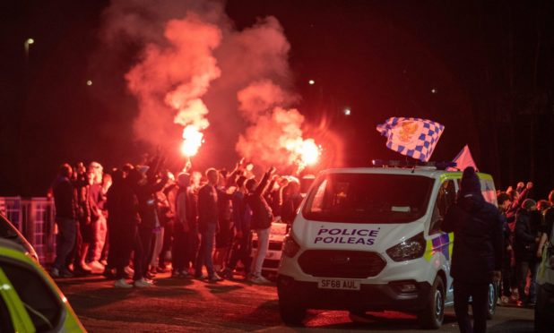 Police have called on fans to maintain social distancing and be aware of the dangers of using pyrotechnics.