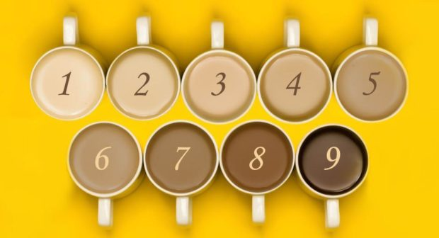 To go with story by Dawn Donaghey. Numbered tea cups for International Tea Day Picture shows; Numbered tea cups for International Tea Day. Shutterstock image edited by DCT Graphics team. Supplied by Shutterstock image edited by DCT Graphics team Date; Unknown