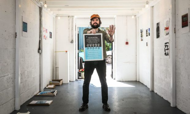 Andrew Wasylyk at the Kathryn Rattray Gallery. Picture: Mhairi Edwards/DCT Media