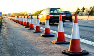Motorists are facing delays on the M90 due to resurfacing work