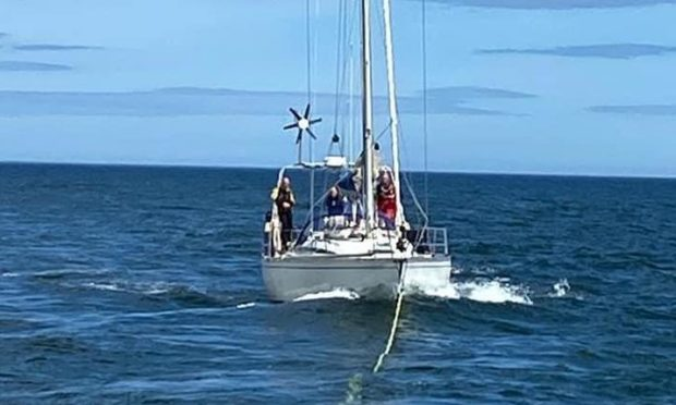 stricken yacht Firth of Tay