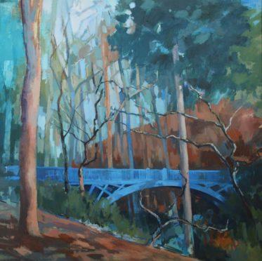 Balgay Park visitors will recognise Blue Bridge by Penelope Anstice.