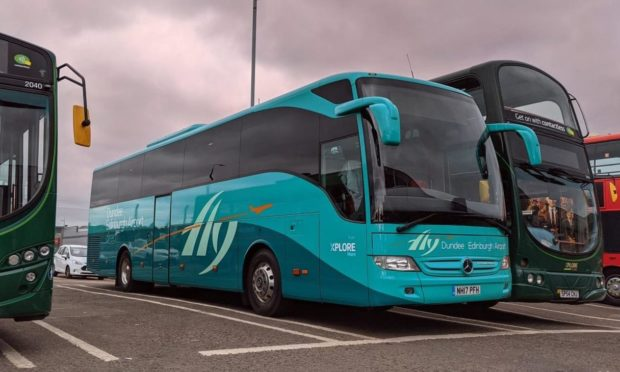 Airport Express, the bus service that runs from Dundee to Edinburgh Airport