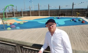 Montrose film-maker Anthony Baxter at the new Seafront Splash play zone.