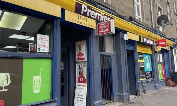The Premier off-licence shop on Strathmartine Road.