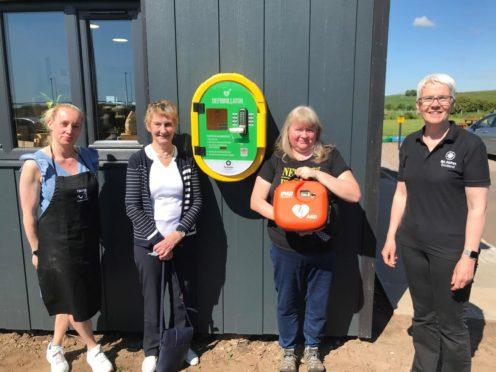 Lisa Turnbull from 2nd Chance tearoom, Hazel Spence, Amber Cobb and Melanie Cargill of St John Scotland.