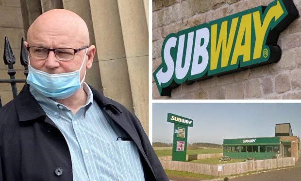 John Jackson who was caught drug dealing at a Perthshire branch of Subway