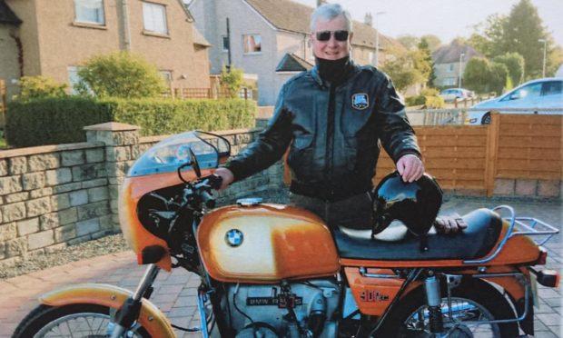 Derek Horne with his BMW R90s.