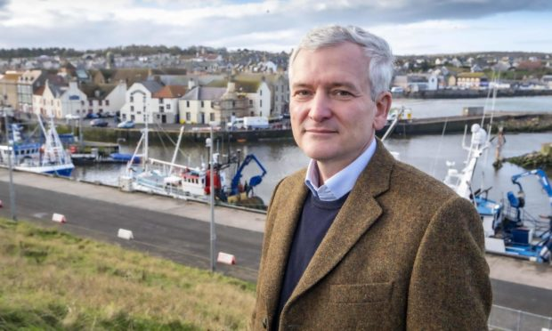NnG project director, Matthias Haag pictured at the site of what will be NnG?s O&M Base in Eyemouth.